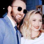 Chris Evans dated Elizabeth Oslen