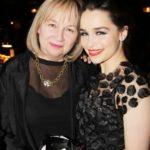 Emilia Clarke with her mother Jennifer Clarke