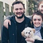 Maisie Williams with her brother James