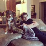 Sebastians Stan and his dog image.