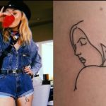 Sophie Turner did a women tattoo on her left thie