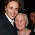 Tom Hiddleston with his mother Diana