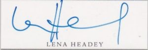 lena headey signature