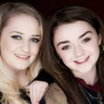maisie williams with her sister Beth