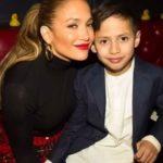 Jennifer Lopez with her son Maximilian
