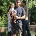Michael Ealy with his daughter Elijah Brown