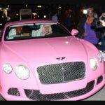 Nicki Minaj with her Bentley Continental GT