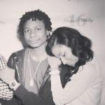 Nicki Minaj with her brother Micaiah Maraj