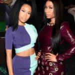 Nicki Minaj with her twin sister Ming Maraj