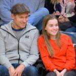 Nikolaj Coster Waldau with his daughter Safina