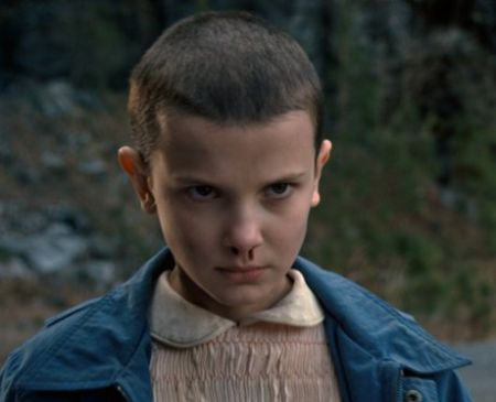 """Millie Bobby Brown as Eleven in """"Stranger Things"""""""