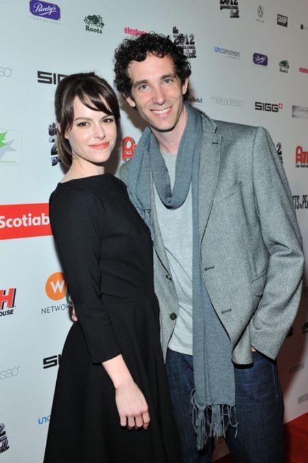 Emily Hampshire with Matthew (1)