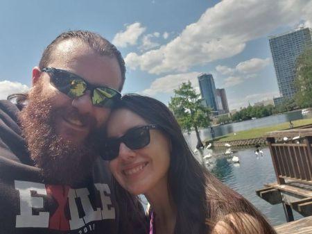 Nikki Cross with her husband Damian Mackle aka Killian Dain