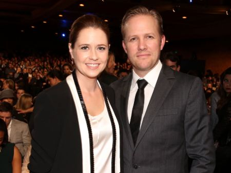 Jenna Fischer with her husband Lee Kirk (1)