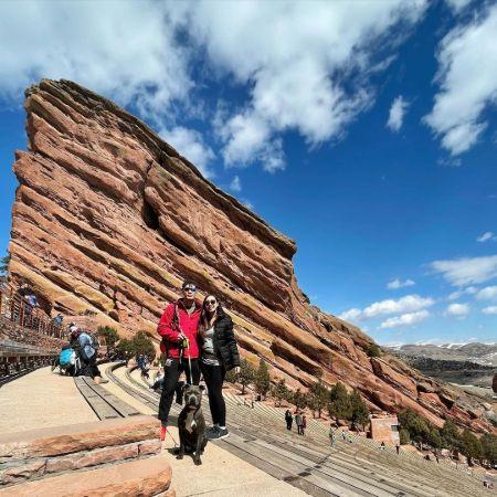 Jordan enjoying his travel toRed Rocks Ampatheater