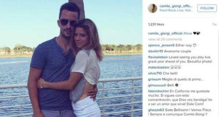 Giacomo Miccini with his ex-girlfriend, Camila Giorgi