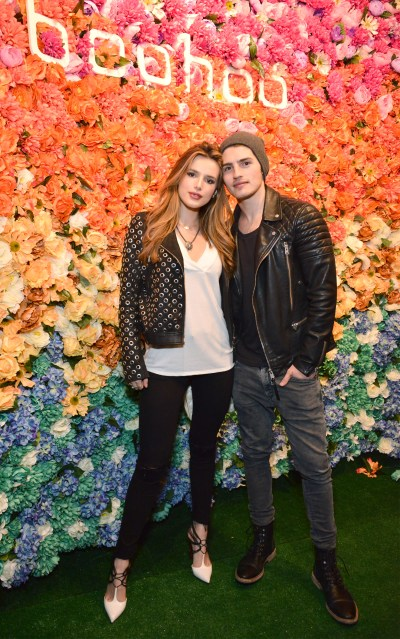 """LOS ANGELES, CALIFORNIA - APRIL 01: Bella Thorne and Gregg Sulkin attend the boohoo.com Flagship LA Pop Up Store with opening party fueled by CIROC Ultra-Premium Vodka on April 1, 2016 in Los Angeles, California. (Photo by Araya Diaz/Getty Images for Paul Wilmot )"""