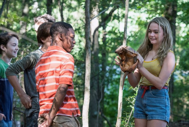 "GAME OF SILENCE -- ""Blood Brothers"" Episode 101 -- Pictured: (l-r) McCarrie McCausland as Young Shawn, Katie Kelly as Young Jess -- (Photo by: Richard DuCree/NBC)"