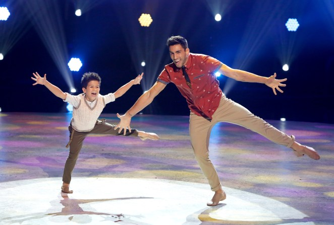 "SO YOU THINK YOU CAN DANCE: L-R: Top 8 contestant J.T. Church and all-star Robert Roldan perform a Jazz routine to ""Friend Like Me (From ""Aladdin"")"" choreographed by Mandy Moore on SO YOU THINK YOU CAN DANCE airing Monday, August 1 (8:00-10:00 PM ET live/PT tape-delayed) on FOX. ©2016 FOX Broadcasting Co. Cr: Adam Rose"