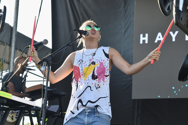Hayley Kiyoko performs onstage during the 2016 Billboard Hot 100 Festival - Day 1 at Nikon at Jones Beach Theater on August 20, 2016 in Wantagh, New York.  (Photo by Theo Wargo/Getty Images for Billboard)