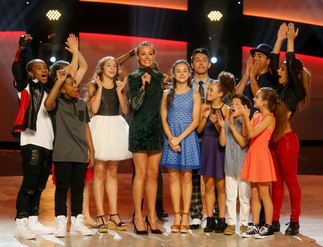 SO YOU THINK YOU CAN DANCE: Host Cat Deeley (Center Left) announces eliminated contestant Ruby Castro (Center Right) on SO YOU THINK YOU CAN DANCE airing Monday, August 22 (8:00-10:00 PM ET live/PT tape-delayed) on FOX. ©2016 FOX Broadcasting Co. Cr: Adam Rose