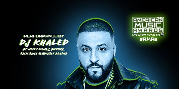 """DJ Khaled Confirmed to Perform """"Do You Mind"""" with Nicki Minaj, August Alsina, Future & Rick Ross at the AMAs"""