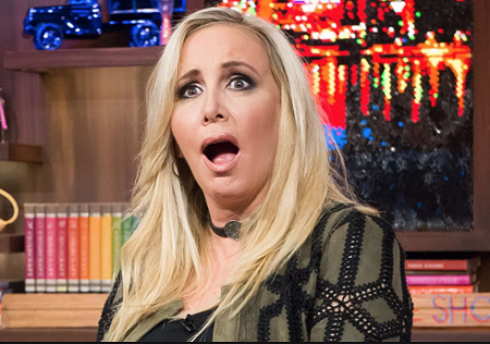 Shannon Beador looking surprised.