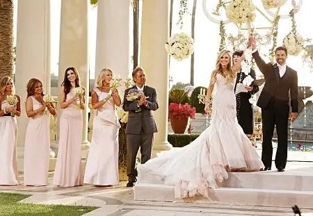Tamra Judge and Eddie Judge declared husband & wife at their wedding.