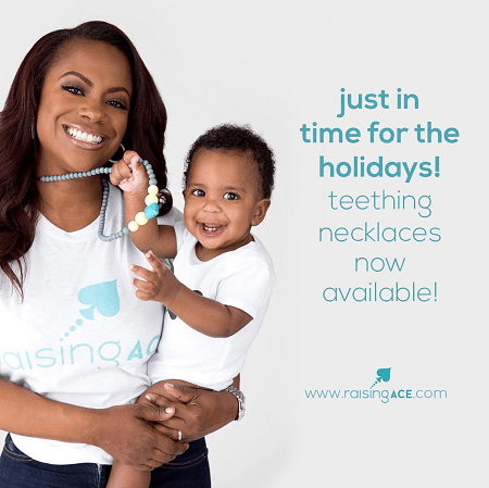 Kandi Burruss with son Ace in the promotional picture for his own Lifestyle brand.
