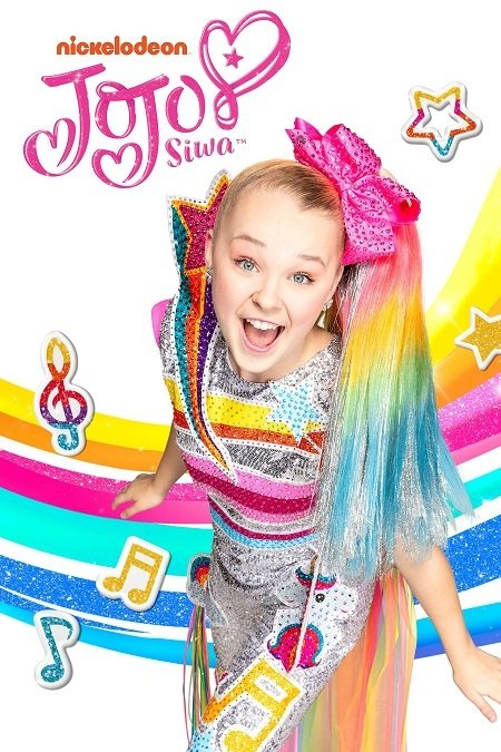 JoJo Siwa on the cover for Nickelodeon's show.