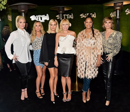 Erika Jayne, Teddi Mellencamp, Dorit Kemsley, Sutton Stracke, Garcelle Beauvais and Lisa Rinna attend SUTTON Store Launch at SUTTON on September 26, 2019, in West Hollywood, California.