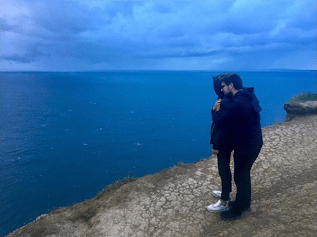 Hera Hilmar with a mystery man in Iceland whom she is supposedly dating.