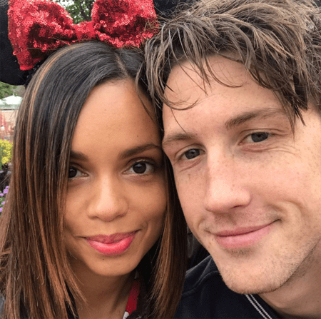 Georgina Campbell and Dawson Taylor, her boyfriend at Disneyland.
