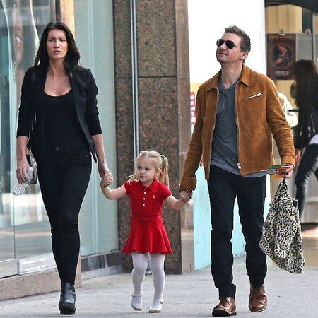 Jeremy Renner and his former wife Sonni Pacheco with their daughter Ava.
