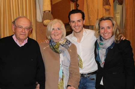 Fleabag actor Andrew Scott with his parents and sister.