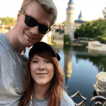 Joonas with his wife Milla at Disneyland.