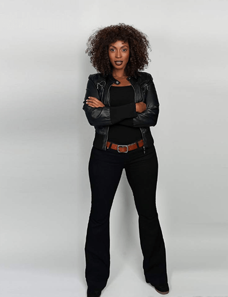 Lisa Berry as 'Billie' during a photoshoot.