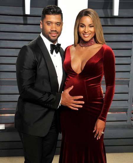 Russell Wilson and Ciara got married and they welcomed their daughter.