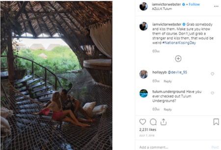 Victor Webster making it Instagram official with his girlfriend Shantel VanSanten.