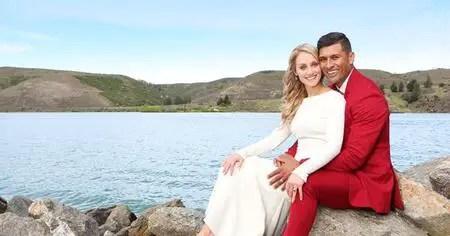 Te Kohe Tuhaka and his spouse Larissa Dyke.