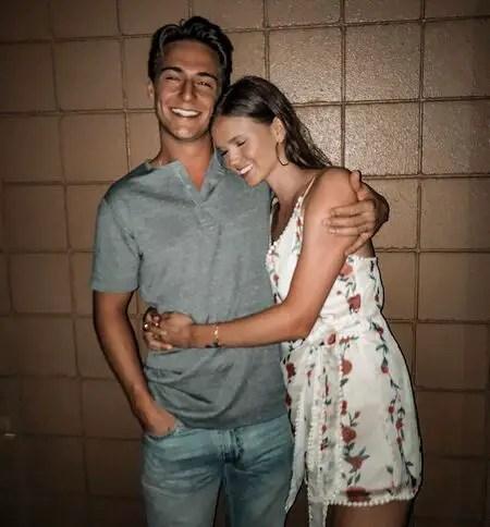Evan Roderick with his girlfriend Lauren.