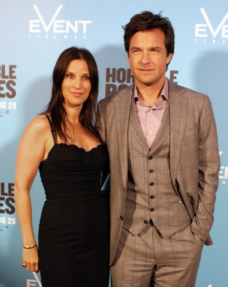 Jason Bateman with his wife Amanda Anka.