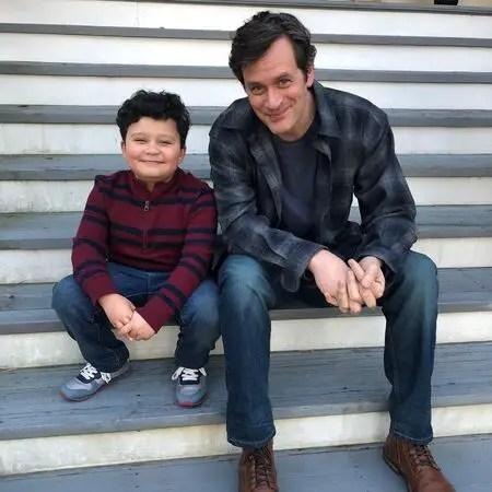 Blue Chapman stars as JJ Perry alongside Tom Everett Scott's Scott Perry on the NBC drama 'Council of Dads.'