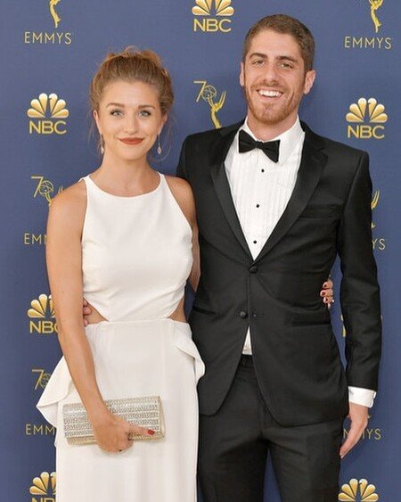 Taylor Misiak with her boyfriend Tony Yacenda.