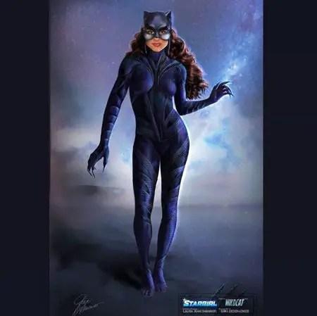 Yvette Monreal plays Yolanda Montez/Wildcat in The CW show Stargirl.