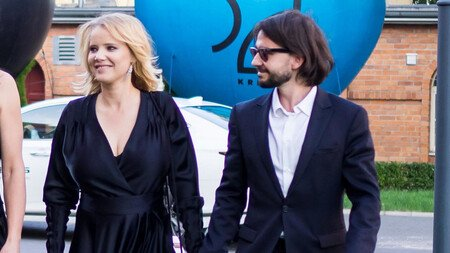 Joanna Kulig with her husband Maciej Bochniak.