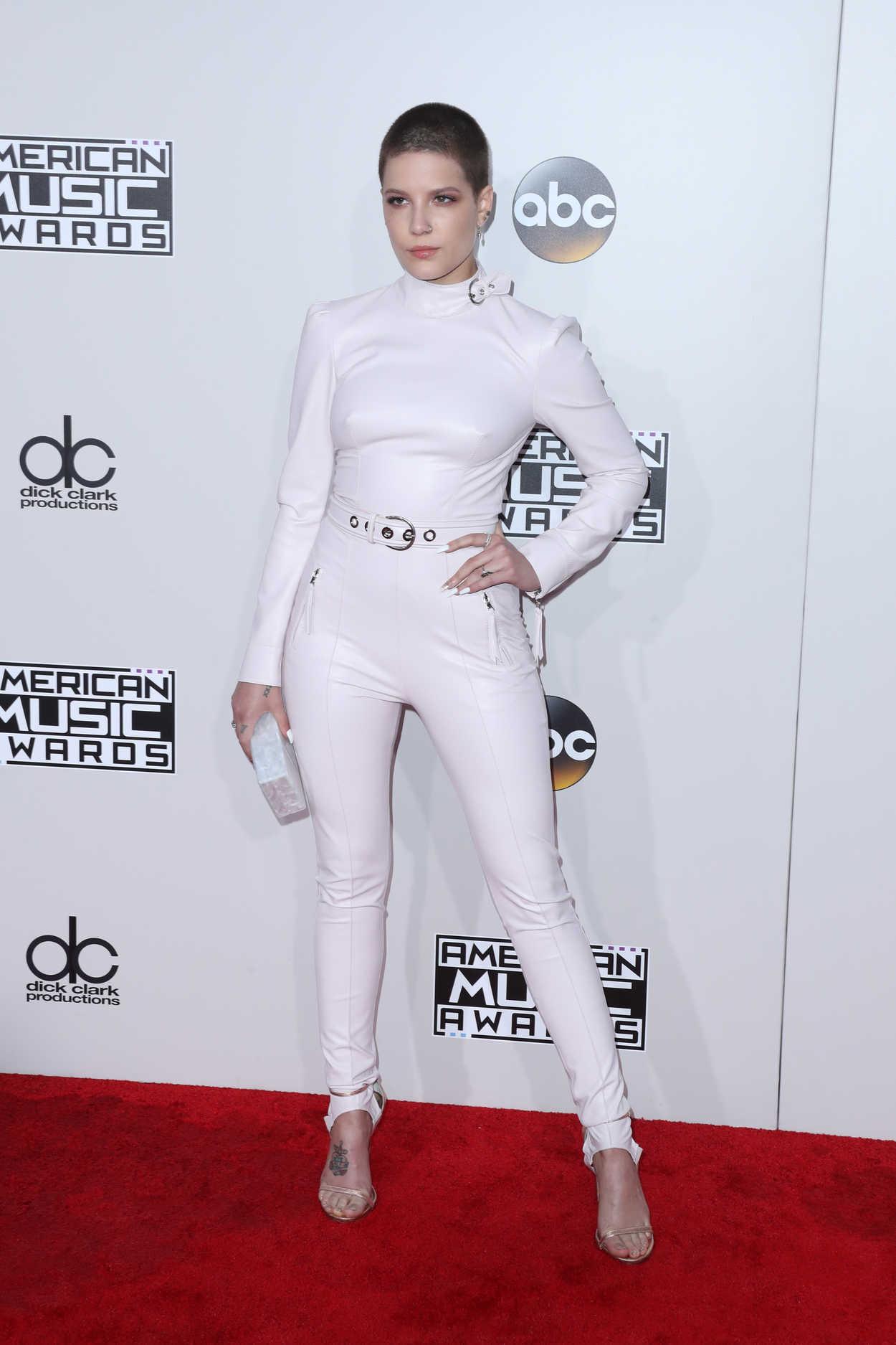 Halsey At The American Music Awards At The Microsoft