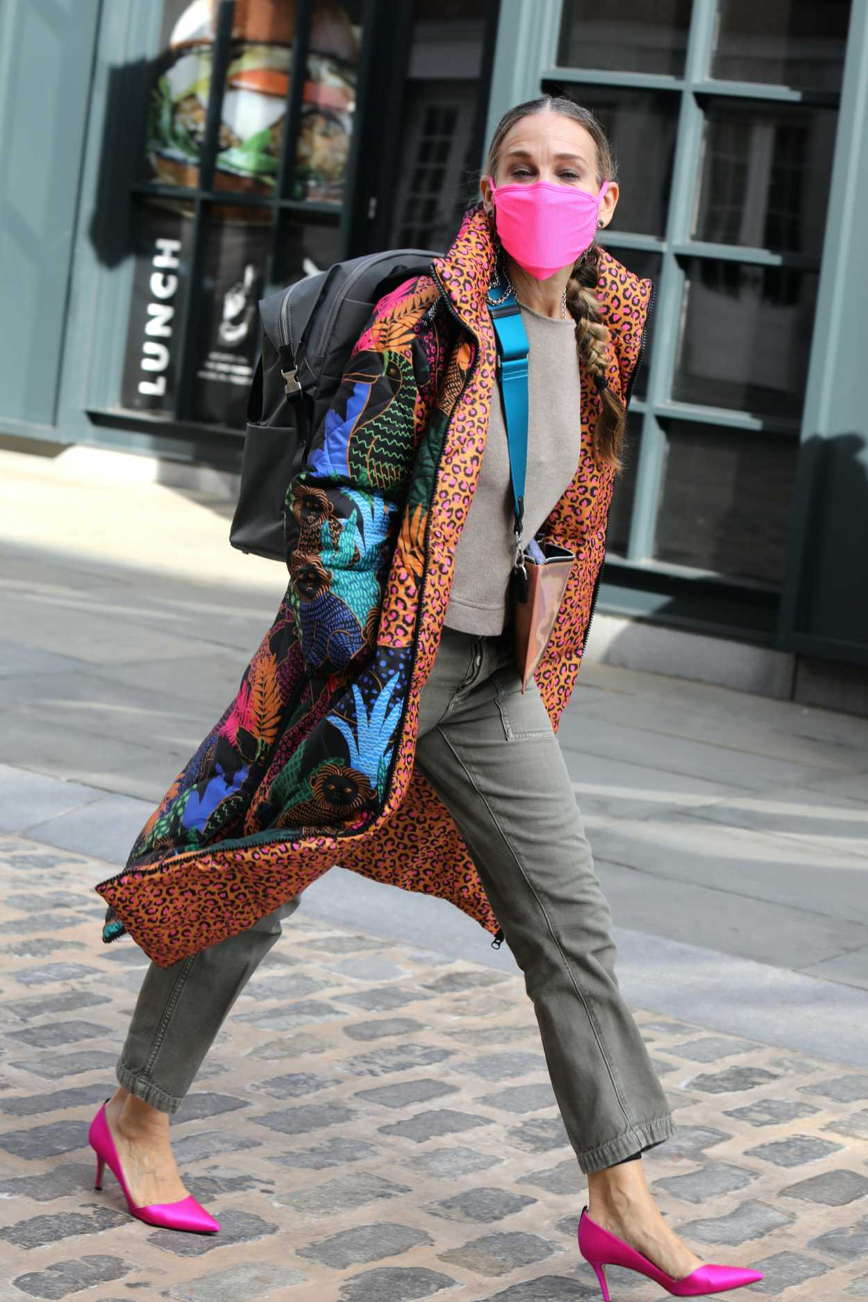 How to keep silver locks looking healthy · why we need to stop. Sarah Jessica Parker in a Pink Protective Mask Was Seen