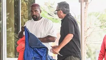 US Presidential candidate Kanye West spotted entering an emergency door at a hospital