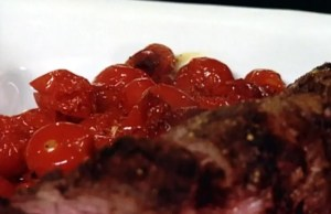 Ostrich fillet tomatoes and cannellini beans - Recipe